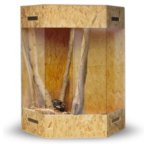 XXL Holzterrarium - Eckterrarium mit Seitenbelüftung