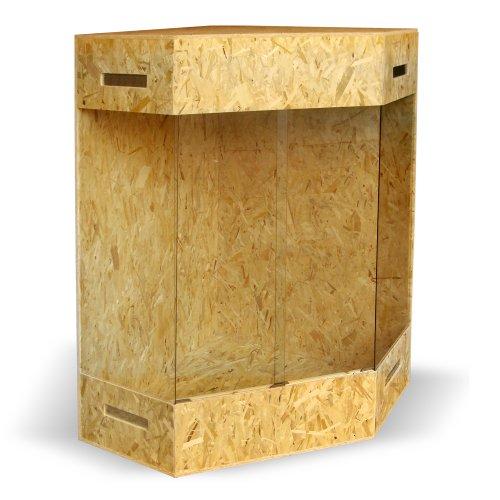 XXL Holzterrarium – Eckterrarium mit Seitenbelüftung - 2