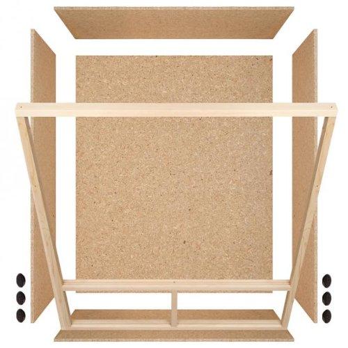 Holzterrarium Hochterrarium 100x120x60cm Seitenbelüftung - 3