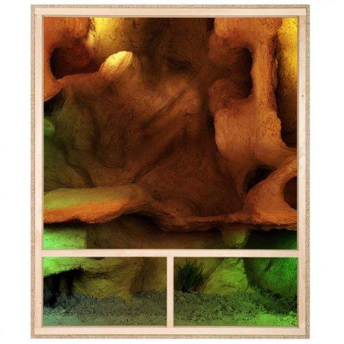 Holzterrarium Hochterrarium 100x120x60cm Seitenbelüftung - 4