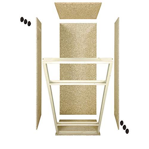 Repiterra Holzterrarium für Reptilien Seitenbelüftung 60x120x60cm - 3