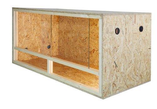 Repiterra Holzterrarium für Reptilien Seitenbelüftung 100x60x60cm