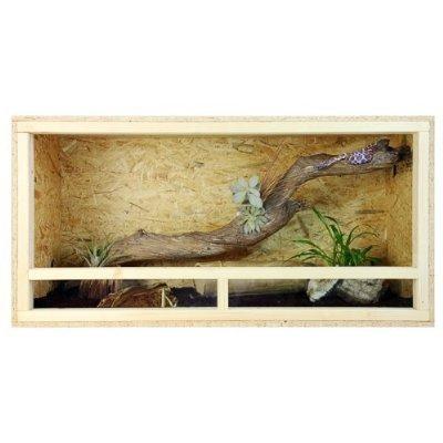 Repiterra Holzterrarium für Reptilien Seitenbelüftung 100x60x60cm - 3