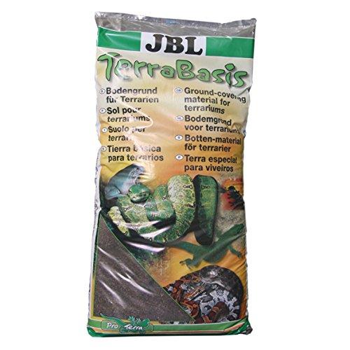 JBL 71012 Bodengrund für Regenwaldterrarien, Spezialerde ohne Düngezusatz, TerraBasis, 20 l