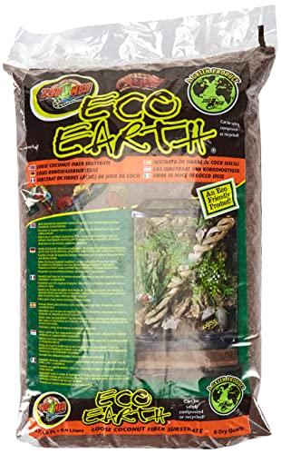 Zoo Med Eco Earth 8,8L Kokosnuss-Bodensubstrat - zur Erhöhung der Luftfeuchtigkeit im Terrarium