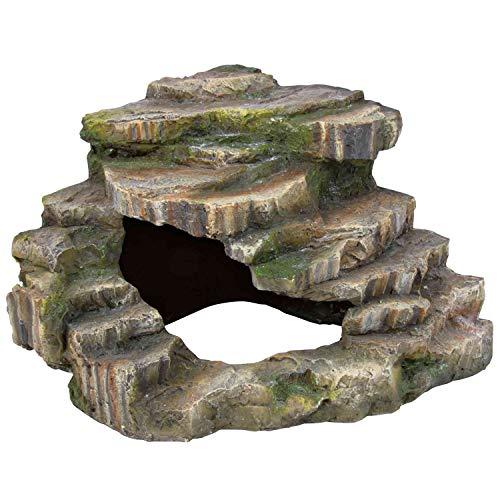 Trixie 76196 Eck-Felsen mit Höhle und Plattform, 26 × 20 × 26 cm