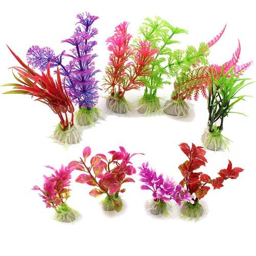 Terrarium Deko.10x Aquariumpflanzen Künstliche Keramik Aquarium Pflanzen Terrarium Deko Farbig
