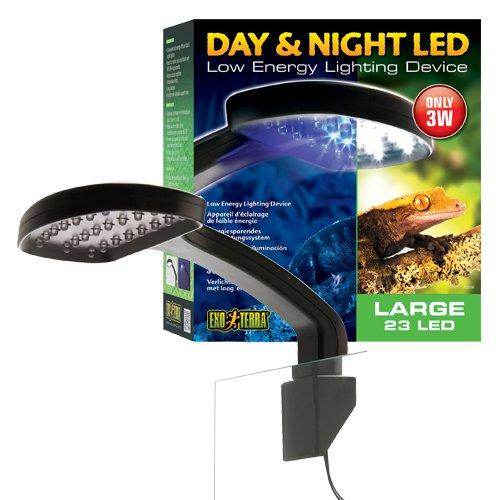 Exo Terra Tag & Nacht LED Beleuchtung, geringe Wärmeentwicklung. 22 x 24,5 x 8,5cm (BxHxT) - 3