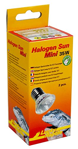 lucky reptile hsm 35 halogen sun mini 35 w doppelpackung w rmestrahler f r e27 fassung. Black Bedroom Furniture Sets. Home Design Ideas