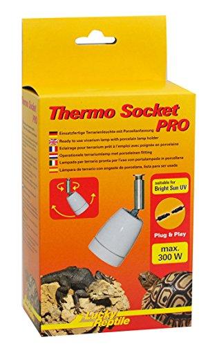 Lucky Reptile HTSP-5 Thermo Socket Pro, Porzellanfassung mit Gelenk, montierte Terrarienleuchte