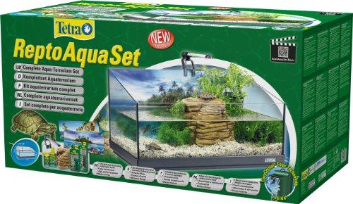 Tetra Repto Aqua Set, Komplettset (für Wasserschildkröten mit Innenfilter, Heizer, LED-Beleuchtung und Deko-Insel mit integriertem Futterplatz, ideal zur Aufzucht von Baby- und jungen Schildkröten) - 2