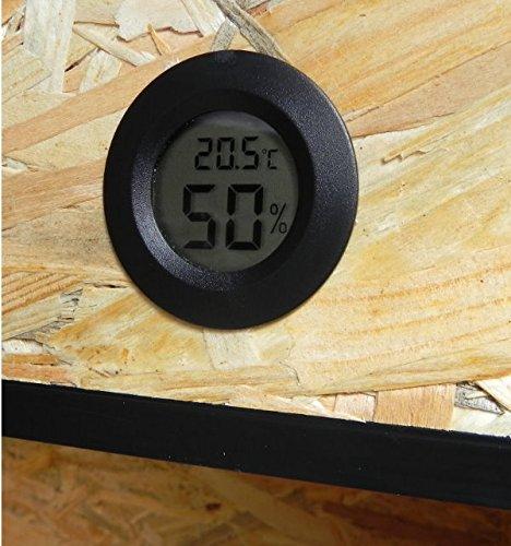 TerraBasic RepCage 120x60x60, Seitenbelüftung, schwarze ABS Kanten, Thermo-Hygrometer - 2