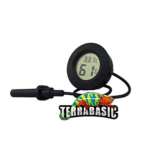 TerraBasic RepCage 120x60x60, Seitenbelüftung, schwarze ABS Kanten, Thermo-Hygrometer - 3