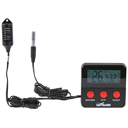 Trixie 76114 Digital Thermometer und Hygrometer, für Terrarium, fernfühlend